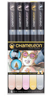 Chameleon Art Products 5 Piece Marker Pen Set - Pastel Tones