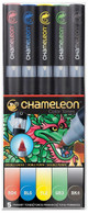 Chameleon Art Products 5 Piece Marker Pen Set - Primary Tones