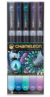 Chameleon Art Products 5 Piece Marker Pen Set - Cool Tones