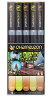 Chameleon Art Products 5 Piece Marker Pen Set - Earth Tones