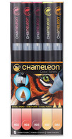 Chameleon Art Products 5 Piece Marker Pen Set - Warm Tones