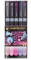 Chameleon Art Products 5 Piece Marker Pen Set - Floral Tones