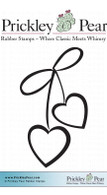 2 Hearts - Red Rubber Stamp
