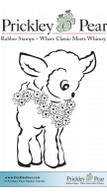 Lamb with Flowers - Red Rubber Stamp