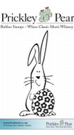 Bunny with Egg - Red Rubber Stamp