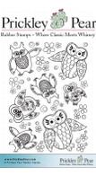Owls ATC - Red Rubber Stamp