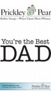 Best Dad - Red Rubber Stamp