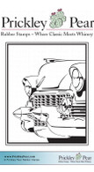 Vintage Cadillac - Red Rubber Stamp