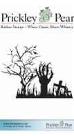 Hand in Graveyard - Red Rubber Stamp