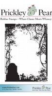 Graveyard ATC - Red Rubber Stamp