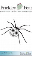 Dead Head Spider - Red Rubber Stamp