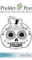 Dead Head Pumpkin, Small - Red Rubber Stamp