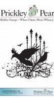 Raven Collage - Red Rubber Stamp