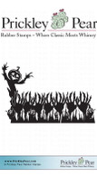 Hands in Cornfield - Red Rubber Stamp