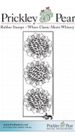 3 Sunflowers - Red Rubber Stamp