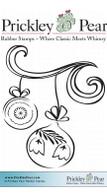 Ornaments with Flourish - Red Rubber Stamp