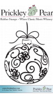 Flourished Ornament - Red Rubber Stamp