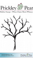 Bare Branch Tree 1 - Red Rubber Stamp