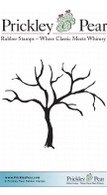 Bare Branch Tree 2 - Red Rubber Stamp