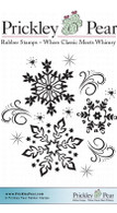 Swirls & Snowflakes - Red Rubber Stamp