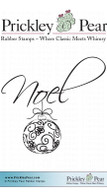 Noel 2 - Red Rubber Stamp