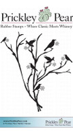 Raven Branch - Red Rubber Stamp