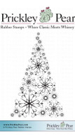 Snowflake Tree - Red Rubber Stamp