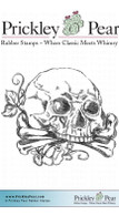 Skull & Crossbones - Red Rubber Stamp