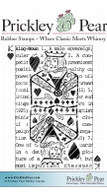 King of Hearts ATC - Red Rubber Stamp