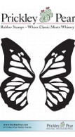 Sm. Butterfly Wings - Red Rubber Stamp