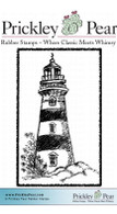 Lighthouse, Small - Red Rubber Stamp