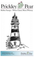 Lighthouse - Red Rubber Stamp