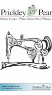 Old Fashioned Sewing Machine - Red Rubber Stamp