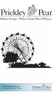 Ferris Wheel - Red Rubber Stamp