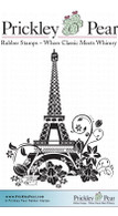 Flourished Eiffel Tower - Red Rubber Stamp
