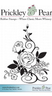 Rose Bunch - Red Rubber Stamp