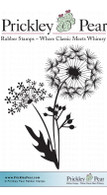Dandelion Bunch - Red Rubber Stamp
