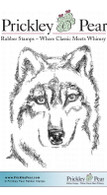 Wolf - Red Rubber Stamp