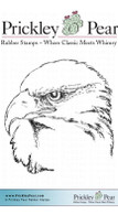 Eagle - Red Rubber Stamp
