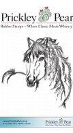 Horse - Red Rubber Stamp