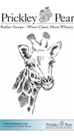 Thoughtful Giraffe - Red Rubber Stamp