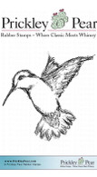 Hummingbird, Small - Red Rubber Stamp
