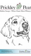 Golden Retriever - Red Rubber Stamp