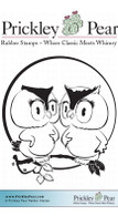 Love Owls - Red Rubber Stamp