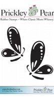 2 Butterflies - Red Rubber Stamp