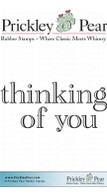 Thinking of You - Red Rubber Stamp
