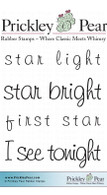 Star Light - Red Rubber Stamp