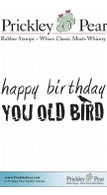 You Old Bird - Red Rubber Stamp
