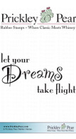 Dreams Take Flight - Red Rubber Stamp