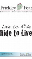 Live to Ride - Red Rubber Stamp